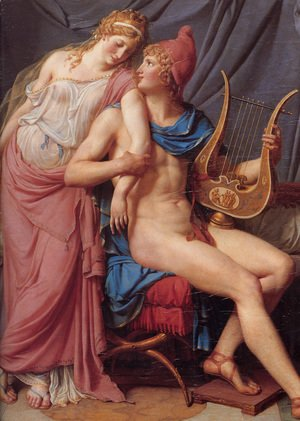 Jacques Louis David - The Courtship of Paris and Helen [detail: 1]