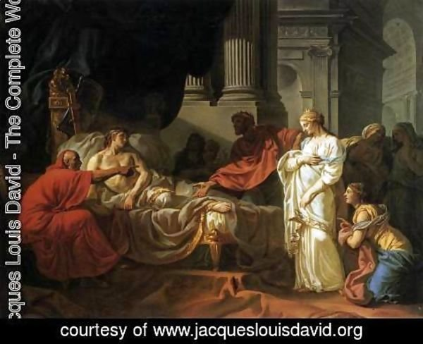 Jacques Louis David - Antiochus and Stratonice