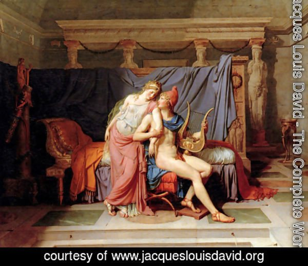 Jacques Louis David - The Courtship of Paris and Helen