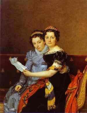 Jacques Louis David - Portrait of Charlotte and Zenaide Bonaparte