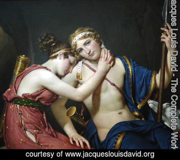 Jacques Louis David - The Farewell of Telemachus and Eucharis