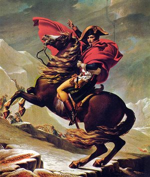 Jacques Louis David - Napoleon Crossing the Alps 2