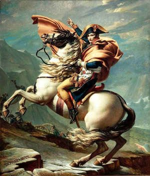 Jacques Louis David - Napoleon Crossing the Alps