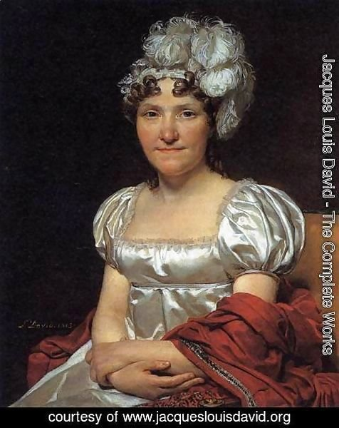 Jacques Louis David - Portrait of Marguerite-Charlotte David
