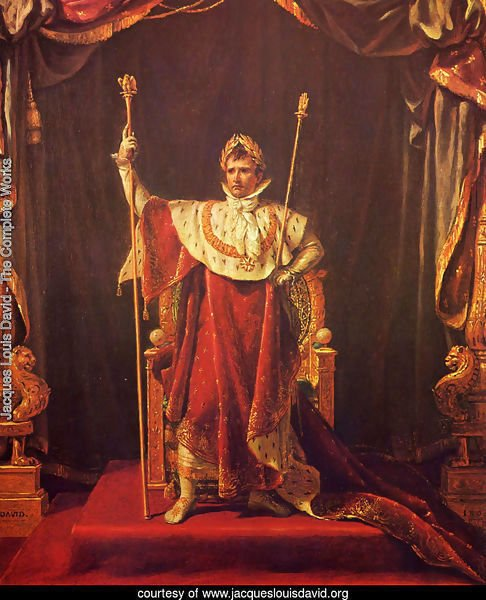 Portrait of Napoleon in imperial garb