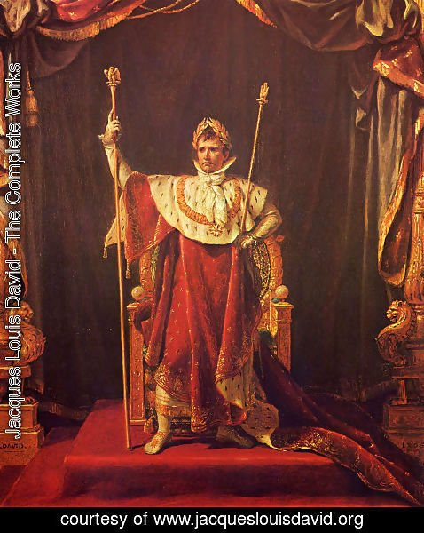 Jacques Louis David - Portrait of Napoleon in imperial garb