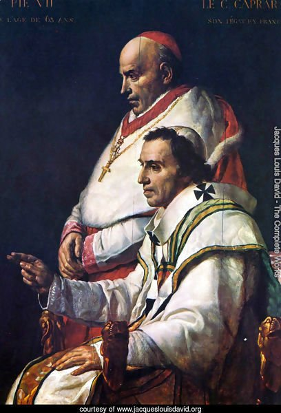Portrait of Pope Pius VII and the Cardinal Caprara