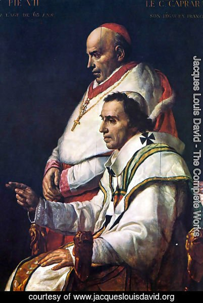 Jacques Louis David - Portrait of Pope Pius VII and the Cardinal Caprara