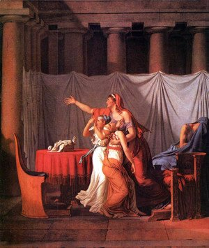 Jacques Louis David - The Lictors Bring to Brutus the Bodies of His Sons (detail)