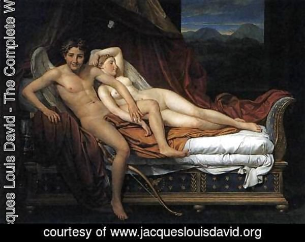 Jacques Louis David - Cupid and Psyche 2