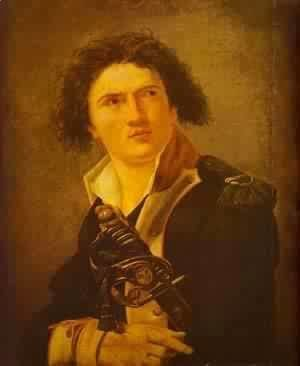 Jacques Louis David - Portrait Of Lazre Hoche 1793