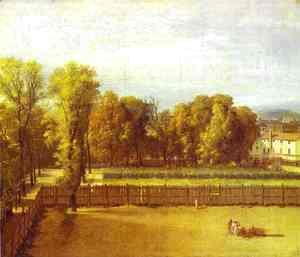 Jacques Louis David - View Of The Garden Of The Luxembourg Palace 1794