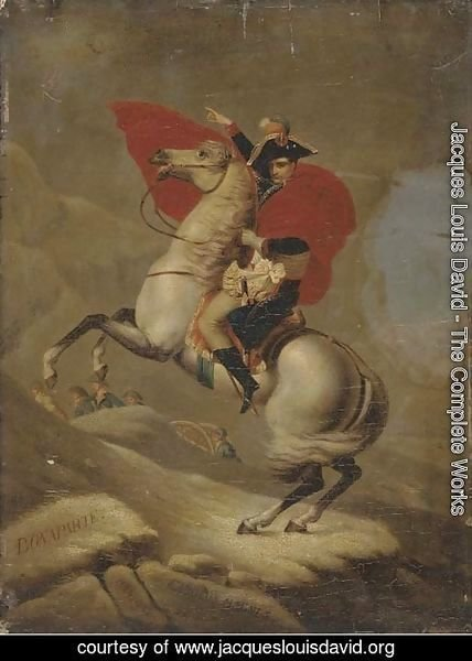 Napolean Bonaparte crossing the Alps by the Great Saint Bernard Pass- 1800