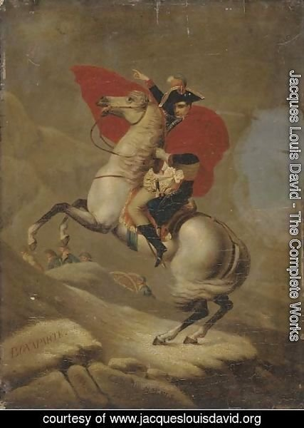 Jacques Louis David - Napolean Bonaparte crossing the Alps by the Great Saint Bernard Pass- 1800