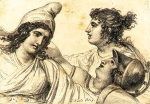 Jacques Louis David - Paris with Juno and Minerva