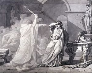 Jacques Louis David - The Ghost Of Septimus Severus Appearing To Caracalla, After The Murder Of His Brother Geta