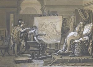 Jacques Louis David - Alexander, Apelles And Campaspe