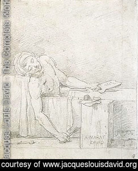 Jacques Louis David - The death of marat 2