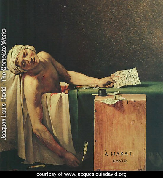 The Death Of Marat  (detail 2) 1793