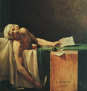 Jacques Louis David - The Death Of Marat  (detail 2) 1793
