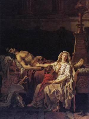 Jacques Louis David - Andromache Mourning Hector 1783
