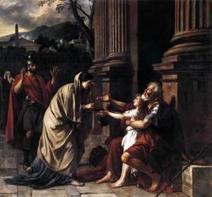 Jacques Louis David - Belisarius Receiving Alms 1781