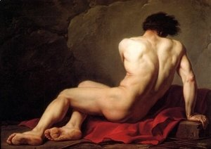 Jacques Louis David - Male Nude Known As Patroclus