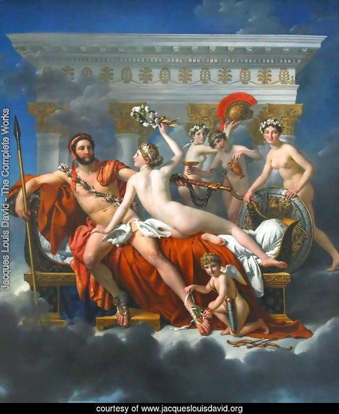 Mars Disarmed by Venus and the Three Graces 1824
