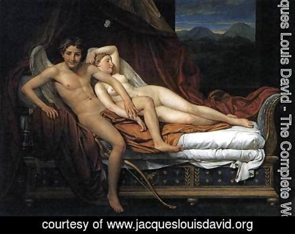 Jacques Louis David - Cupid and Psyche 1817