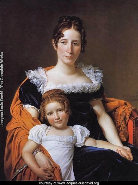 Portrait of the Comtesse Vilain XIIII and her Daughter 1816