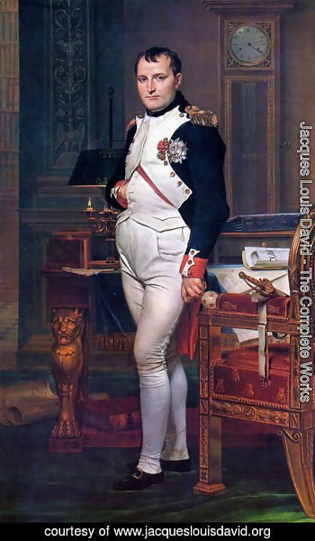 Jacques Louis David - Napoleon in his Study 1812
