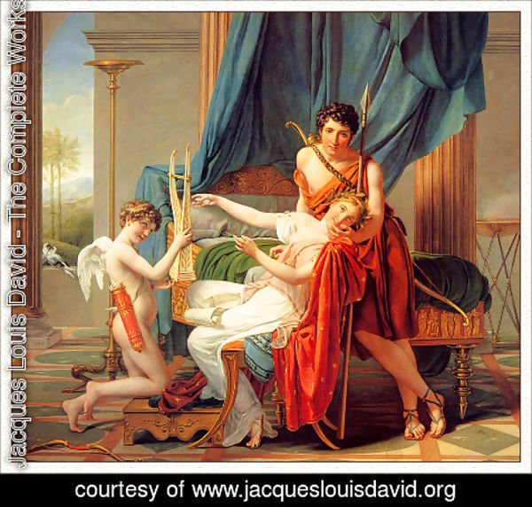 Jacques louis david cupid and psyche certainly right