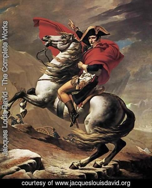 Jacques Louis David - Napoleon at the St. Bernard Pass 1801