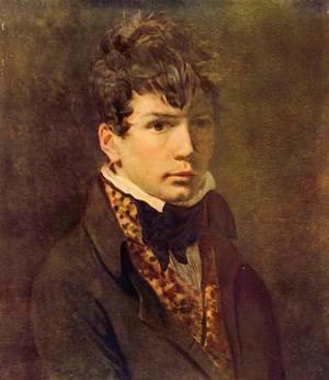 Jacques Louis David - Portrait of Ingres 1800s