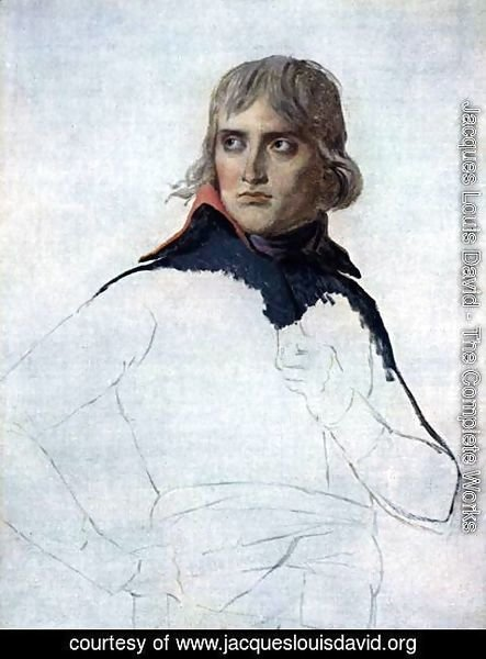 Jacques Louis David - Portrait of General Bonaparte 1797