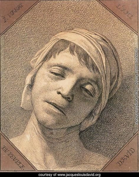 Head of the Dead Marat 1793