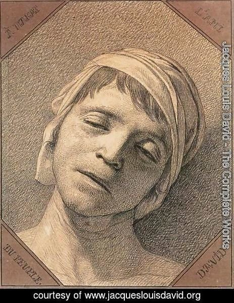 Jacques Louis David - Head of the Dead Marat 1793