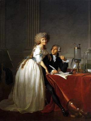 Jacques Louis David - Portrait of Antoine-Laurent and Marie-Anne Lavoisier 1788