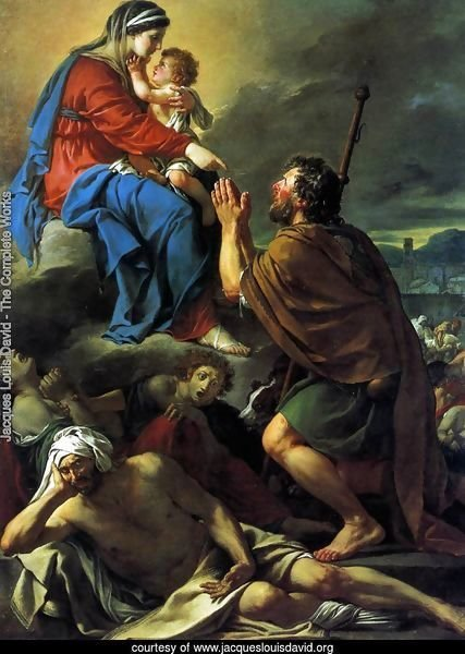 St Roch Asking the Virgin Mary to Heal Victims of the Plague 1780
