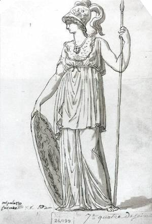 Jacques Louis David - Minerva 1776-77