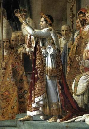 Jacques Louis David - Consecration of the Emperor Napoleon I (detail 1) 1805-07