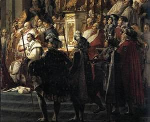 Jacques Louis David - Consecration of the Emperor Napoleon I (detail 3) 1805-07