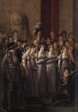 Jacques Louis David - Consecration of the Emperor Napoleon I (detail 4) 1805-07