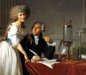 Jacques Louis David - Portrait of Antoine-Laurent and Marie-Anne Lavoisier (detail) 1788