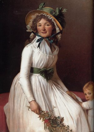 Jacques Louis David - Portrait of Emilie Sériziat and her Son 1795