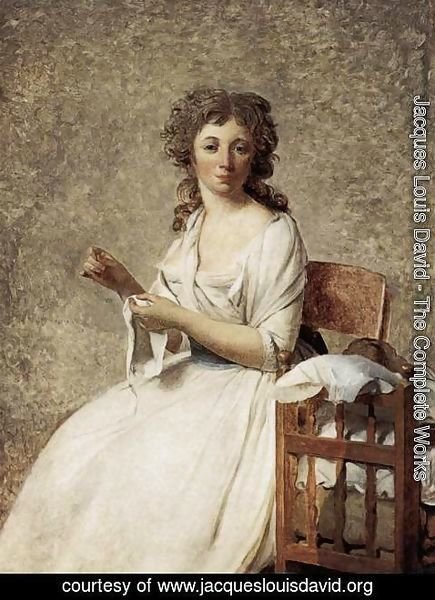 Jacques Louis David - Portrait of Madame Adelaide Pastoret 1791-92