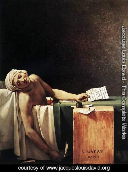 Jacques Louis David - The Death of Marat 1793