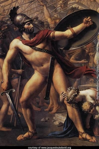 The Intervention of the Sabine Women (detail 2) 1799
