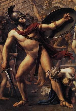 Jacques Louis David - The Intervention of the Sabine Women (detail 2) 1799