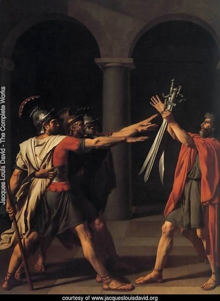 The Oath of the Horatii (detail 1) 1784